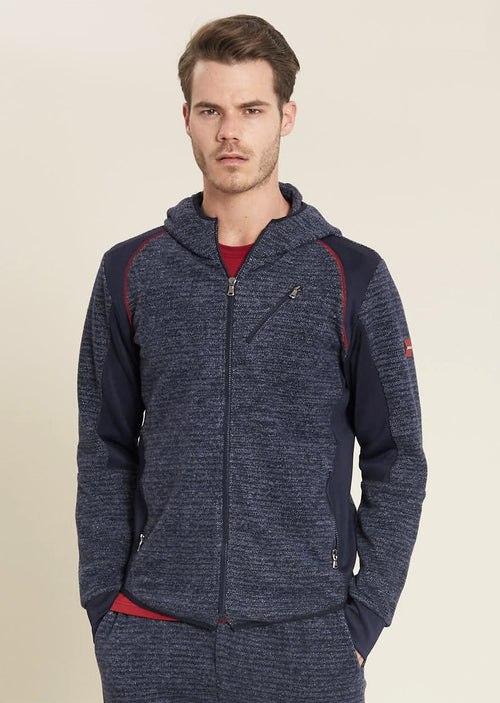 Navy Athletic Tech Sweat Hoodie
