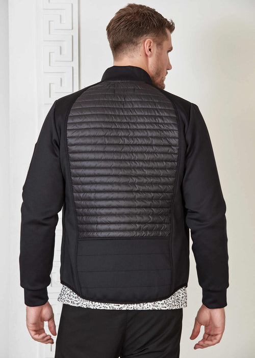 Black Hybrid Quilted Jacket