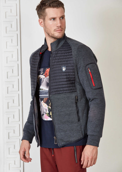 Gray Hybrid Quilted Jacket