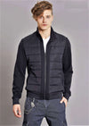 Black Athletic Tech Zipper Jacket