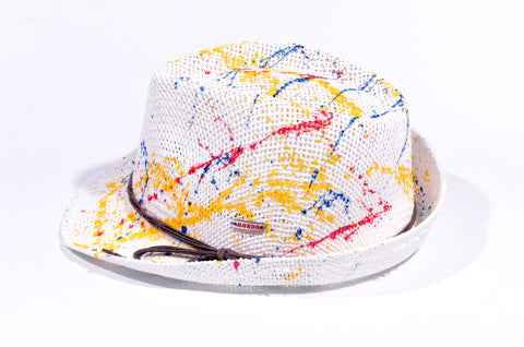 WHITE SPLASH PAINT FEDORA