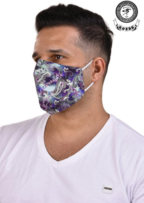 Purple Paisley Mask