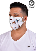 White Bird Print Mask