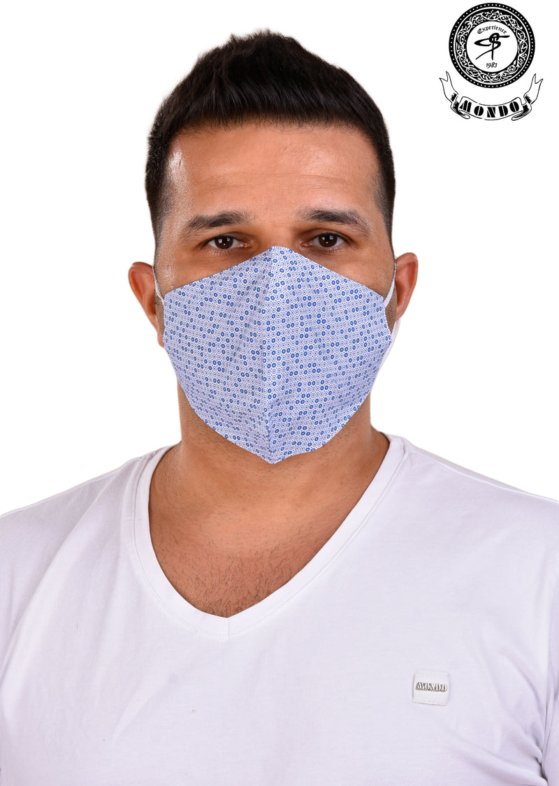 Light Blue Micro Circle Print Mask