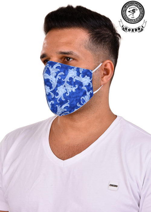 Blue Ornament Print Mask