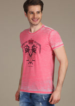 Pink Burnout Crown Tee