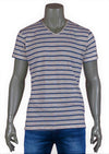 Off-White Blue Stripe Luxury Cotton Tee
