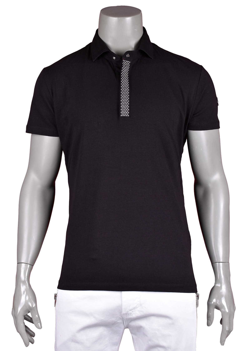 "Black ""Limited Edition"" Studded Polo"