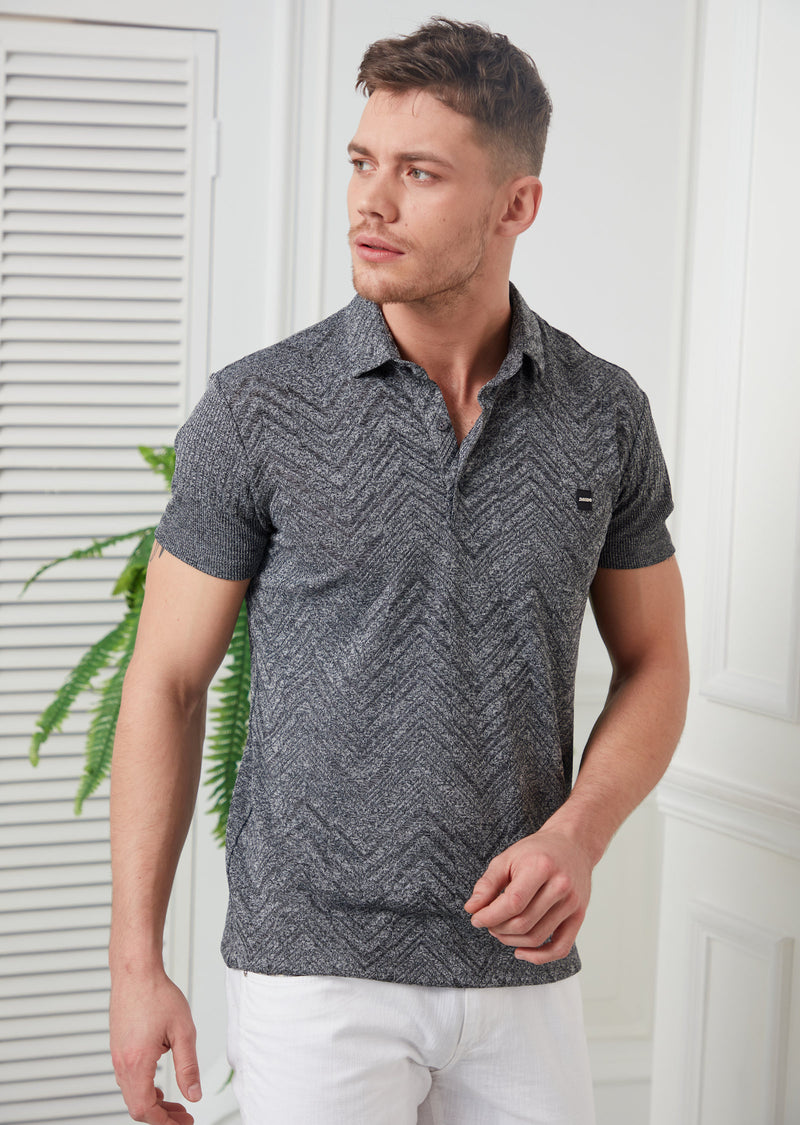 Gray Technical Performance Polo