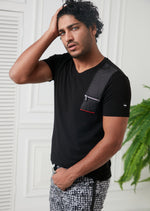 Black Zipper & Quilted Tee