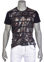 Black Brown Holographic Tee