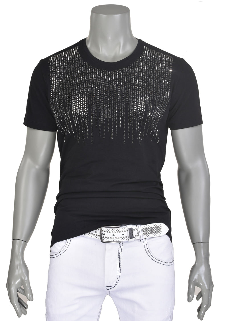 "Black ""Tear Drop"" Ltd Edition Rhinestone Tee"