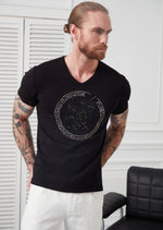 "Black ""EAGLE"" Limited Rhinestone Tee"