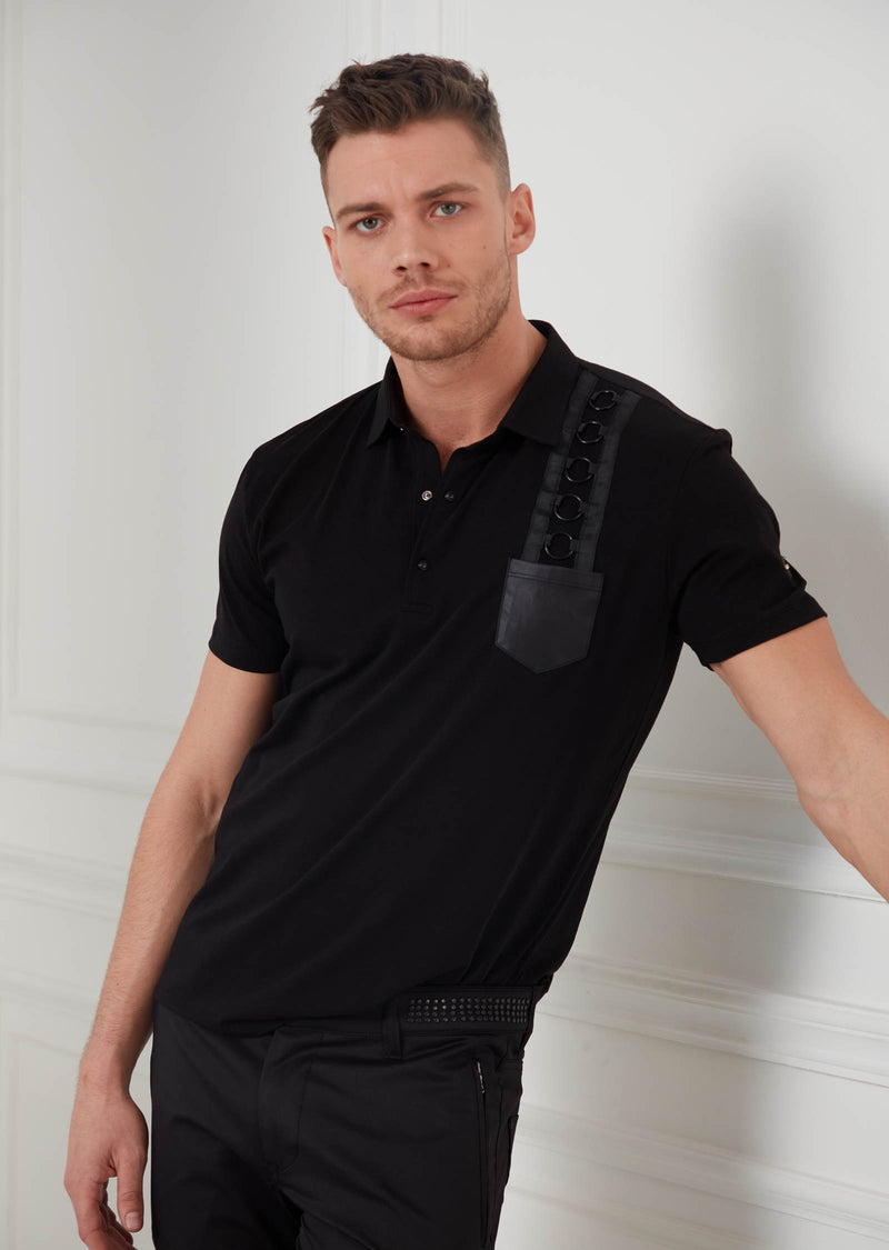 Black Elegant Ring Polo