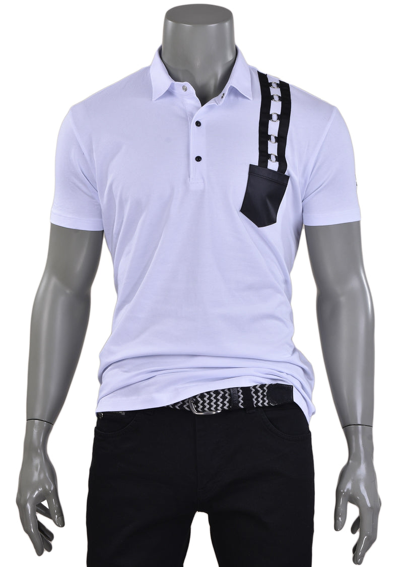 White Elegant Ring Polo