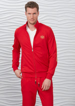 Red Gold Crown Embroidery 2-pieces Tracksuit