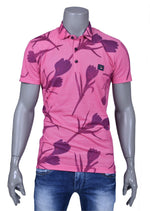 Pink Floral Print Polo
