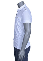 "WHITE STUDDED ""AEGEUS""POLO"