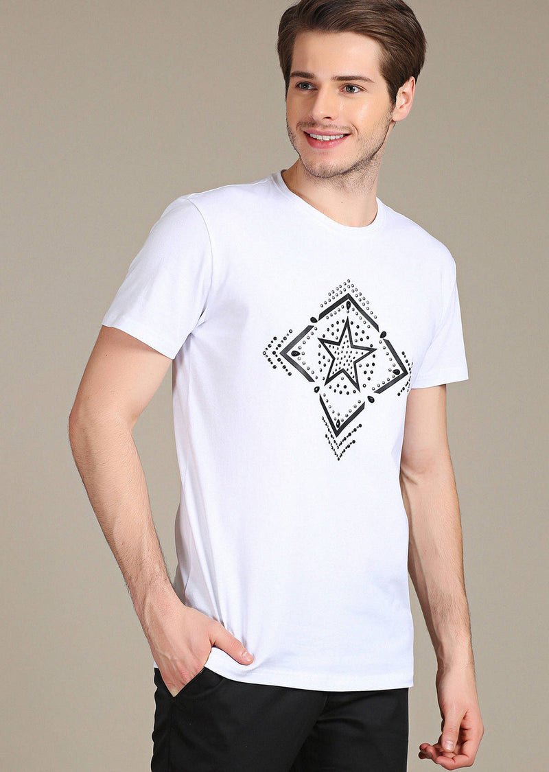 "White ""Limited Edition"" Rhinestone Tee"