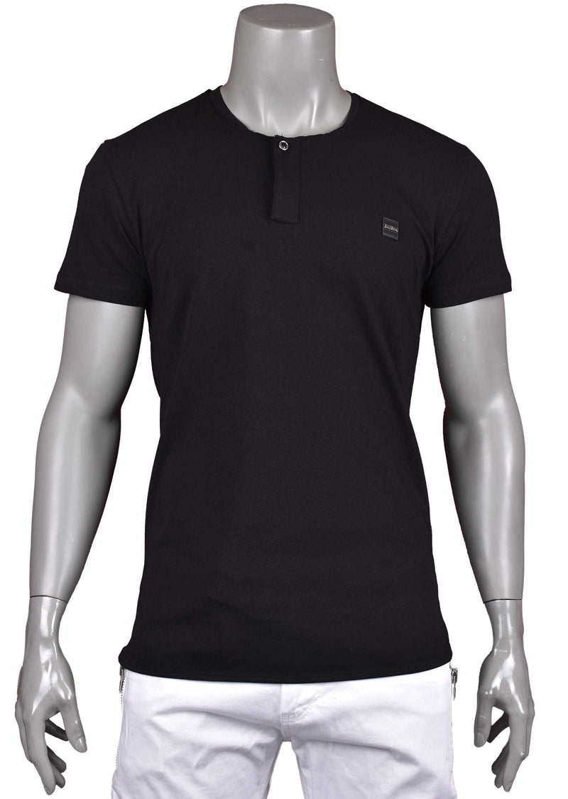 "Black ""Gaspare"" Zipper Tee"
