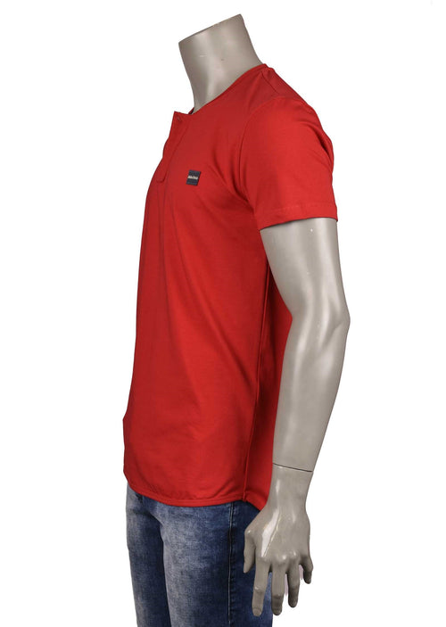 "Red ""Gaspare"" Zipper Tee"