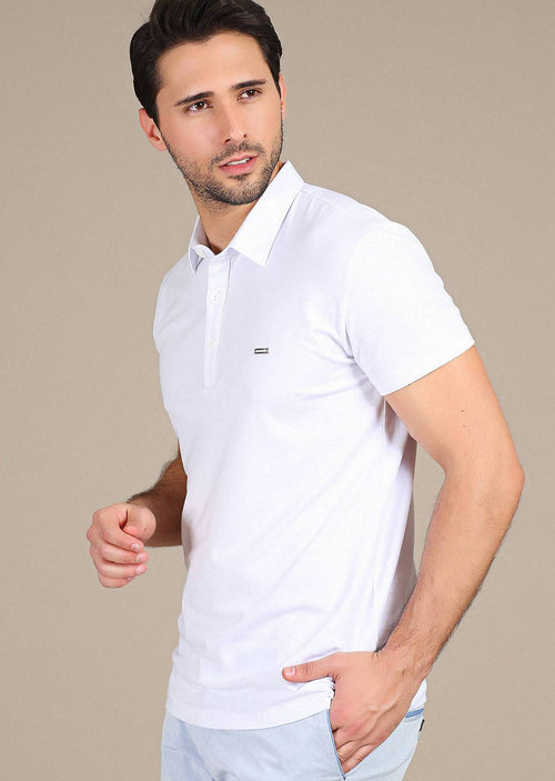 White Modern Fit Polo