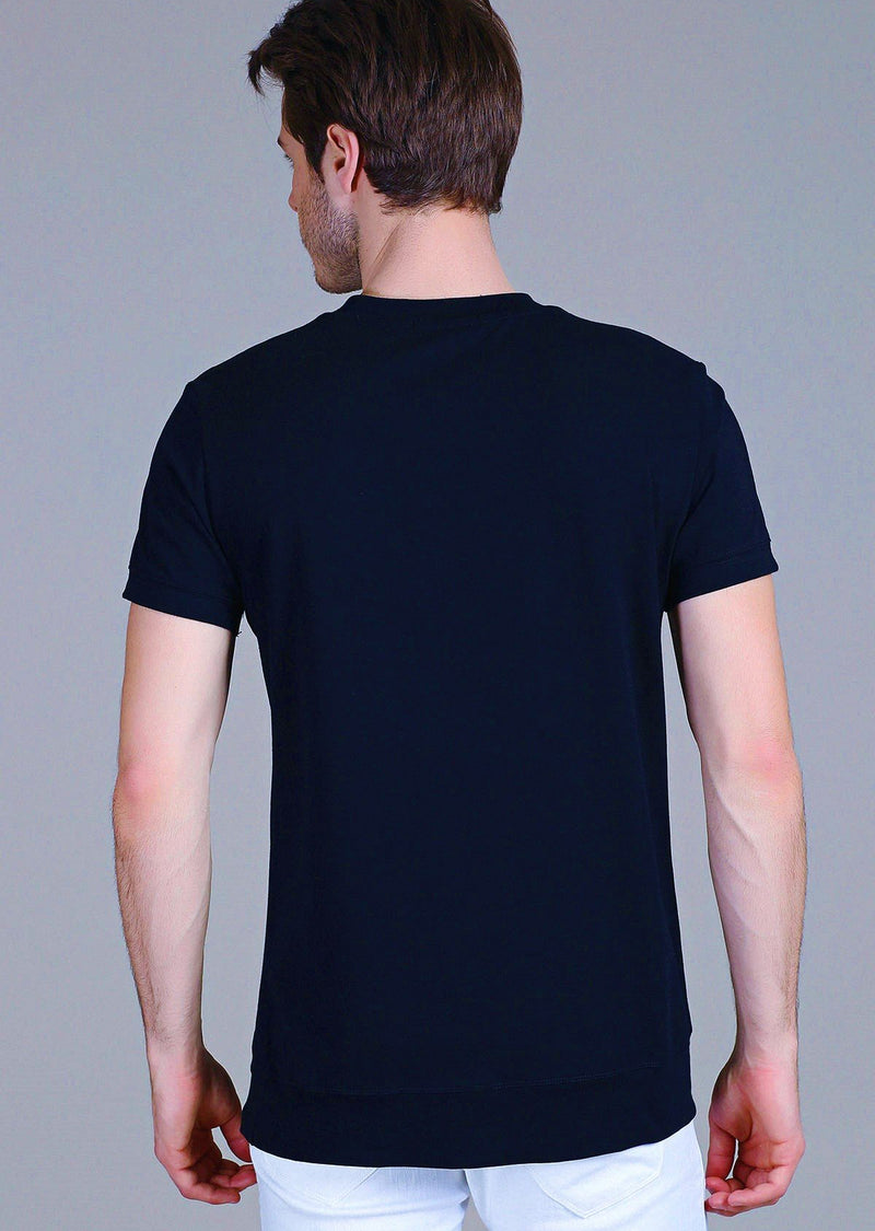 "Navy Zipper ""Fabrizio"" Tee"