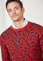 Red Leopard Pattern Sweater
