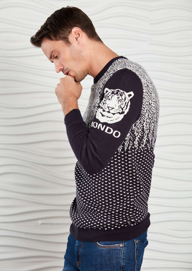 "Navy White ""The Tiger"" Sweater"