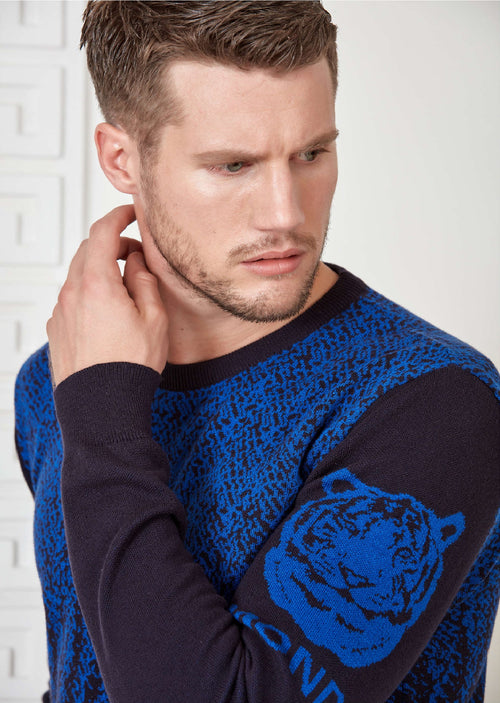 "Royal Blue ""The Tiger"" Sweater"