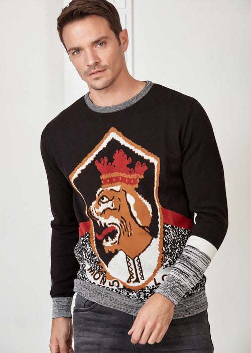 "Black ""The King"" Sweater"