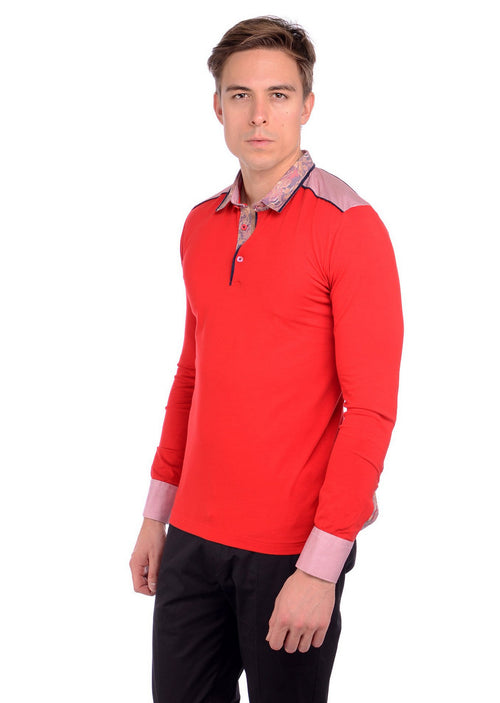 "Red ""Firenze"" Long Sleeve Tee"