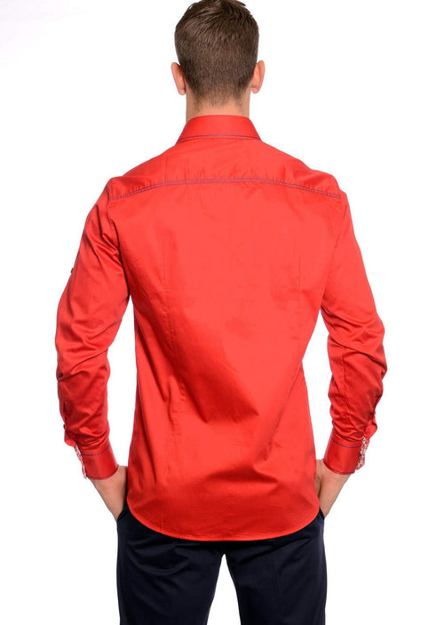 "Red ""Duke"" Long Sleeve Shirt"