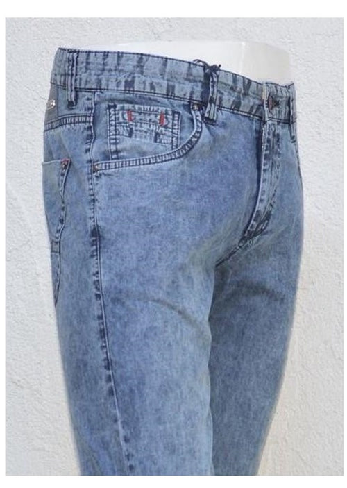 Straight Fit Light Wash Denim