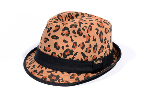LEOPARD BROWN FEDORA