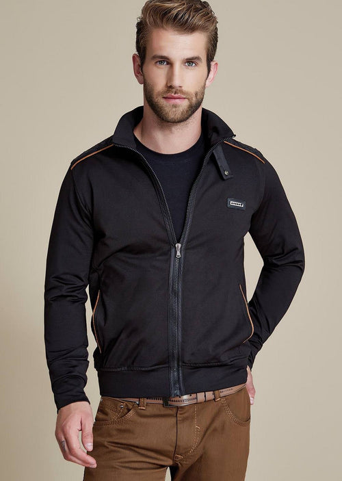 Black Quilted Zipper Jacket