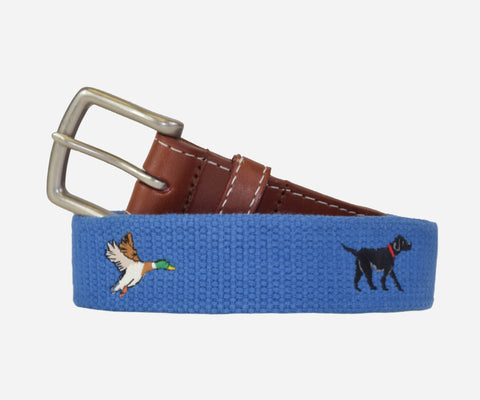 Duck Hunt and Black Lab Belt (sapphire)