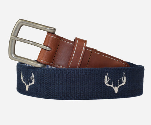 Deer Antlers Belt (patriot navy)
