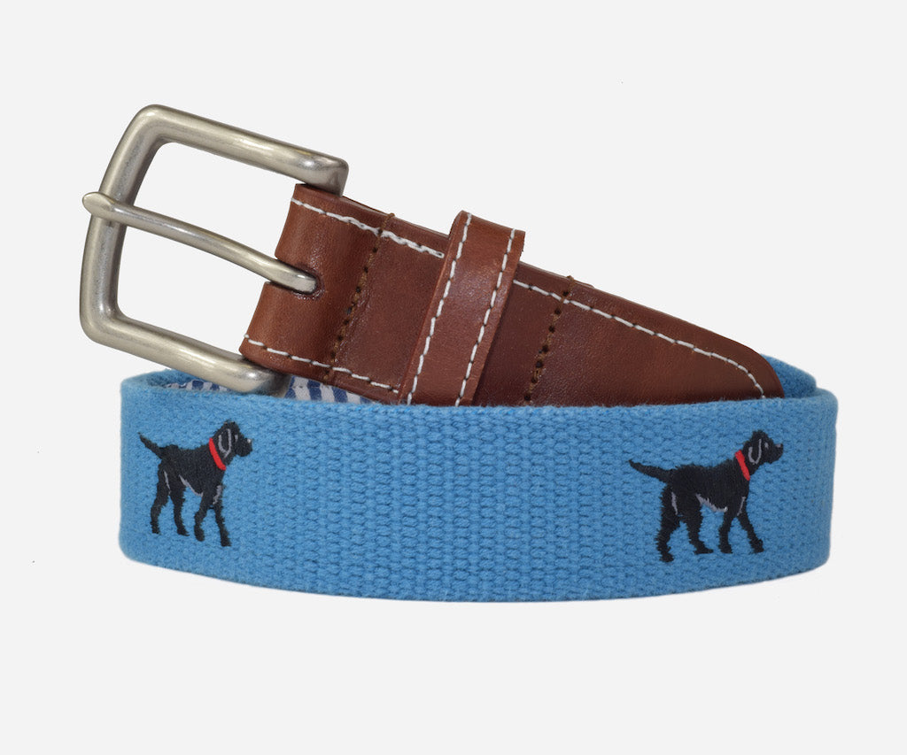 Black Labrador Retriever Belt (marine blue)