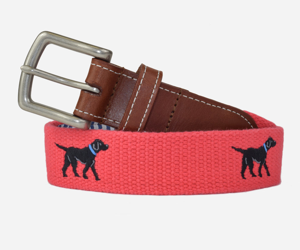 Black Labrador Retriever Belt (Geranium)