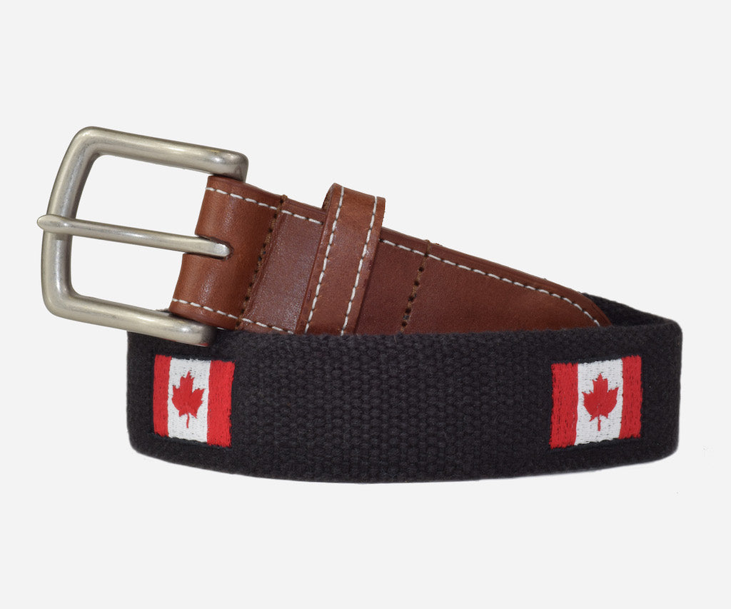 Canadian Flag Belt (black)