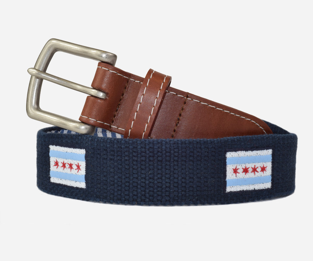 Chicago Flag Belt (patriot navy)