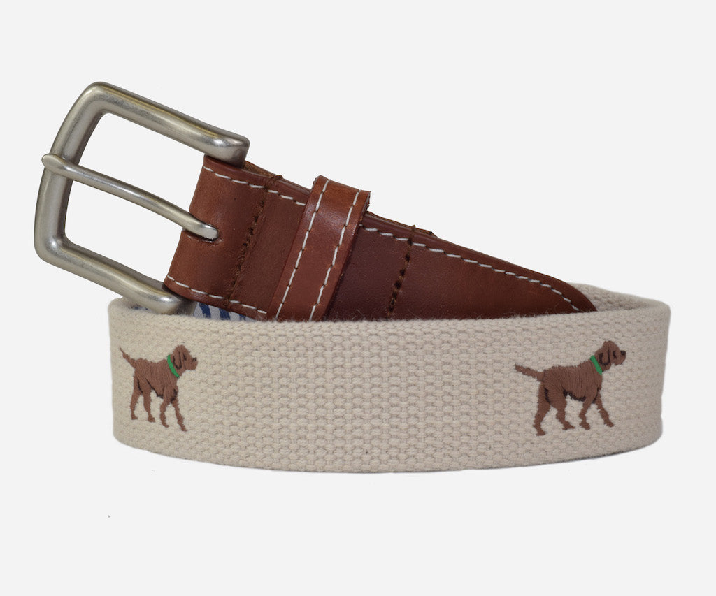 Chocolate Labrador Retriever Belt (Stone)