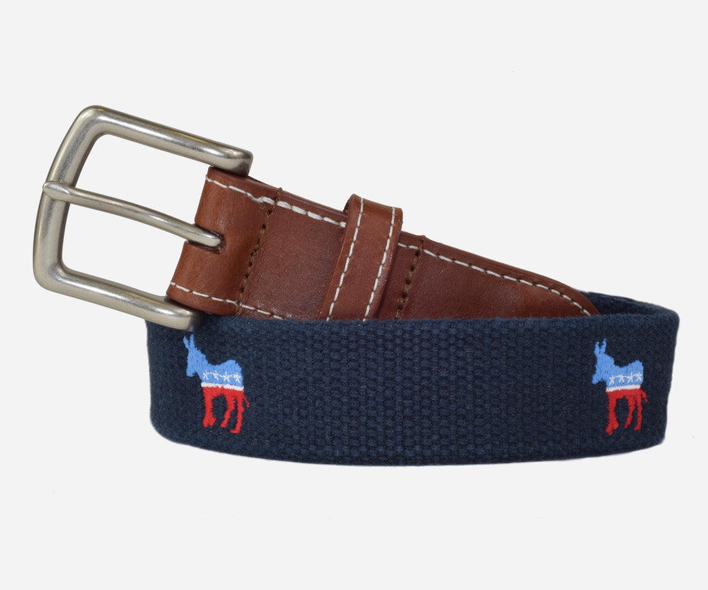Democrat Political Belt (patriot navy)