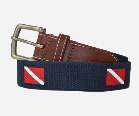 Diver Down Flag Belt (Patriot Navy)