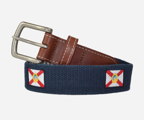 Florida State Flag Belt (patriot navy)