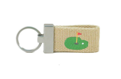 Fore! Putting Green Key Fob