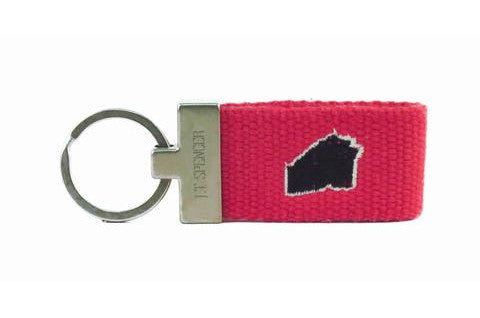 Georgia Tailgate Key Fob -Red & Black