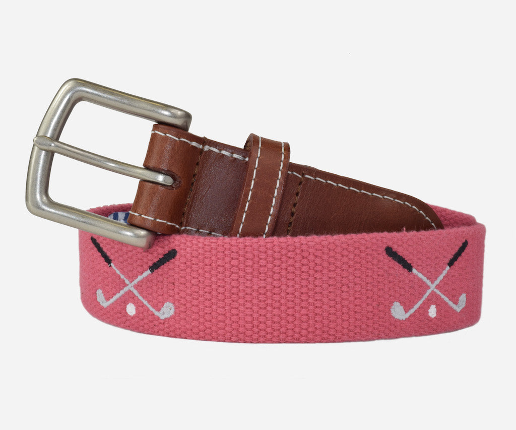 Golf Clubs Belt (Nantucket Red)