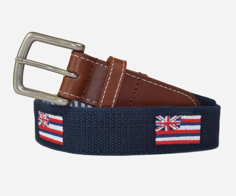 Hawaii State Flag Belt (patriot navy)